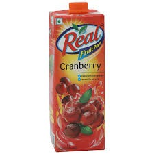 REAL JUICE CRANBERRY 1 LTR