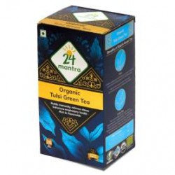 24 MANTRA ORGANIC TULSI GREEN TEA 25 BAGS