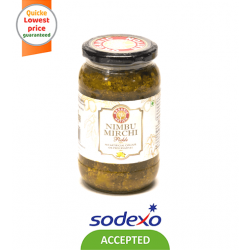 ORGANIC PICKLE NIMBU MIRCHI PICKLE 400GM