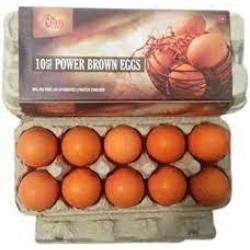 BROWN EGGS 10 PCS