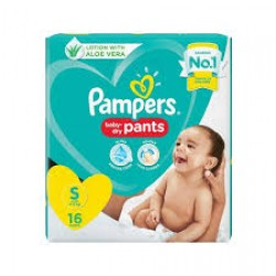 PAMPERS BABY DRY PANTS S-16 PCS