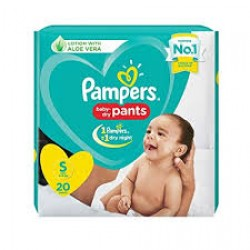 PAMPERS BABY PANTS S-20 PCS