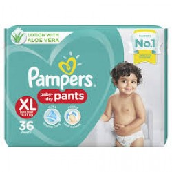 PAMPERS BABY PANTS XL-36 PCS